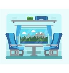 Passenger train inside vector