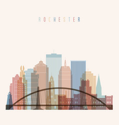 rochester state new york skyline vector image vector image