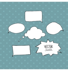 Set of blank speech bubbles with space for text vector
