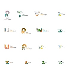 Set of universal company logo ideas business icon vector image