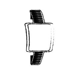 Sketch smart watch wearable technology modern vector