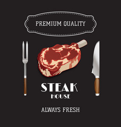 Steak and grill house template menu poster vector