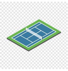 tennis court isometric icon vector image