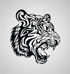 Tiger Tribal Design vector image vector image