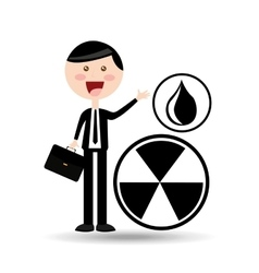 Businessman oil concept contamination sign vector