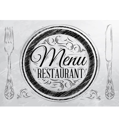 Menu restaurant coal vector