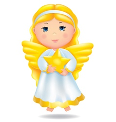 Angel with star vector