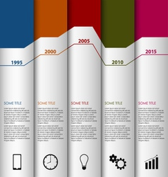 Time line info graphic white striped modern vector