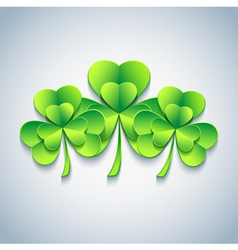Modern patricks day background 3d leaf clover vector