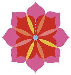Lotus flower emblem design vector image