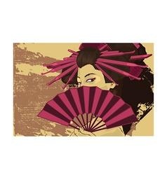 Geisha girl design vector