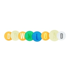Download button made of glossy circles vector
