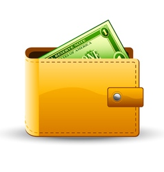 wallet with dollar vector image