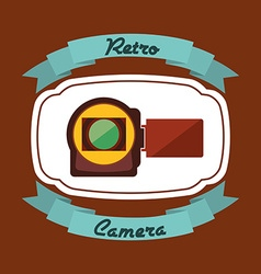 Camera film design vector
