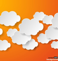 Abstract clouds vector image