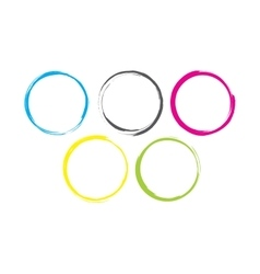 Abstract Colorful Rings vector image vector image