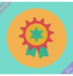 Badge with ribbons or award - vector image