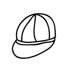 cap drawing isolated icon design vector image