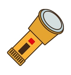 Cartoon lantern light security protective work vector