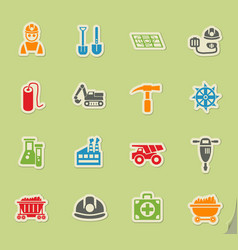 Coal industry icon set vector
