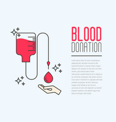 Donation blood concept with bag vector