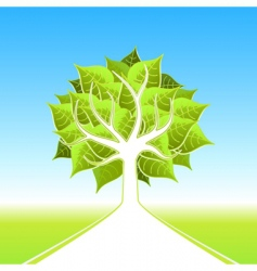 eco tree design vector image vector image