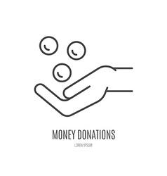 Fundraising label vector