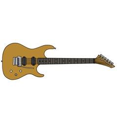 Golden electric guitar vector image vector image