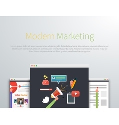 Modern marketing web page design vector