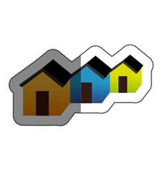 neightborhood silhouette isolated icon vector image