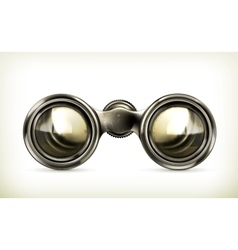 Old binoculars vector
