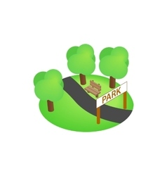 Park icon isometric 3d style vector