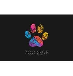 paw print logo Creative animal logo zoo logo vector image