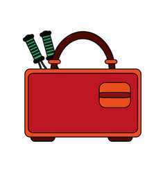 racket case design vector image vector image
