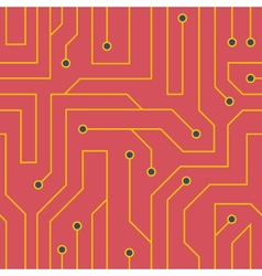 Red circuit board background vector