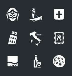 Set of venice icons vector