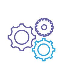 Sihouette gears engineering industry process vector