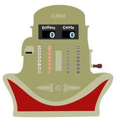 Smiling Cash Register vector image