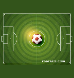 soccer field with football top view vector image vector image