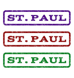 stpaul watermark stamp vector image