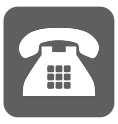 Tone phone flat squared icon vector