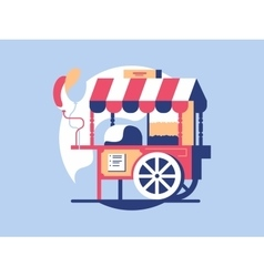 Trolley with popcorn vector image vector image