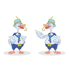 Two geese divers talk vector