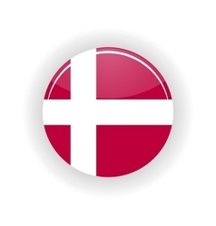 Denmark icon circle vector