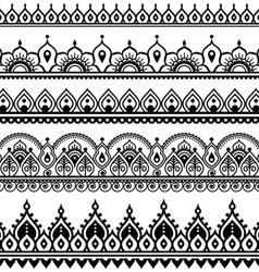 Mehndi indian henna tattoo seamless pattern vector