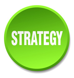 Strategy green round flat isolated push button vector