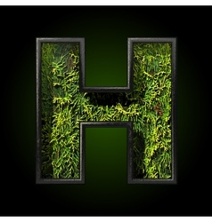 Grass cutted figure h vector