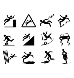 slippery icons vector image