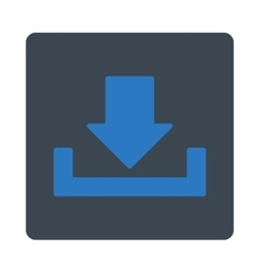 Download flat smooth blue colors rounded button vector