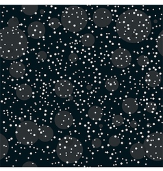 Christmas night snowflakes seamless pattern vector